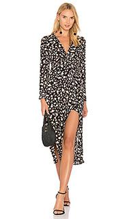 Цветочное платье с разрезом - Bardot