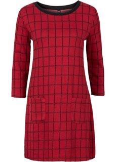 Жаккардовое платье (красный/черный в клетку) Bonprix