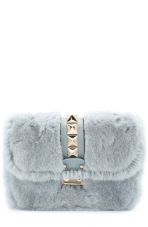 Сумка Glam Lock small с отделкой из меха норки Valentino