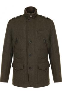 Шерстяная куртка на пуговицах с пуховой подстежкой Ralph Lauren