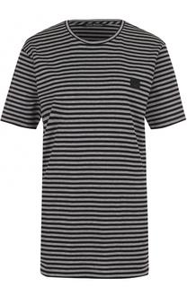 Хлопковая футболка в полоску Acne Studios