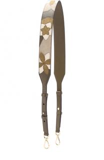 Кожаный ремень для сумки с цветочной вышивкой MICHAEL Michael Kors