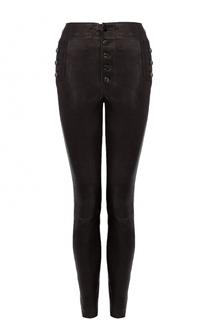 Кожаные брюки-скинни J Brand