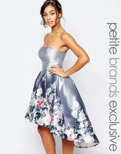 Платье миди бандо Chi Chi London Petite - Мульти