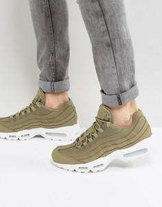 Зеленые кроссовки Nike Air Max 95 749766-201 - Коричневый