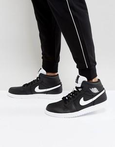 Черные кроссовки средней высоты Nike Air Jordan 1 554724-038 - Черный