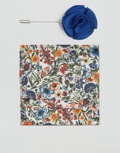 Платок для нагрудного кармана с принтом Gianni Feraud Liberty - Кремовый