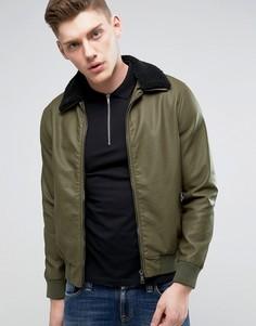 Куртка из искусственной кожи Barneys - Зеленый Barneys Originals
