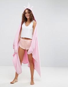 Плед-халат с отделкой в стиле единорога ASOS - Мульти