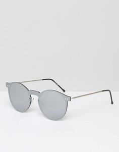 Солнцезащитные круглые очки с зеркальными линзами Spitfire - Серебряный