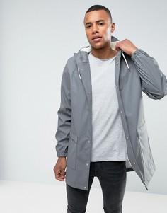 Водонепроницаемая куртка средней длины с капюшоном D-Struct - Серый