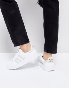 Бело-мятные кроссовки adidas Superstar - Белый