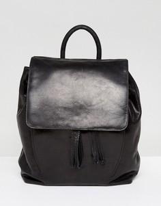 Кожаный рюкзак с завязкой Urbancode - Черный