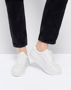 Белые кроссовки Lost Ink - Белый