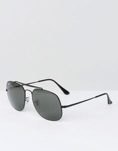 Солнцезащитные очки-авиаторы с поляризованными стеклами Ray-Ban 0RB3561 - Черный