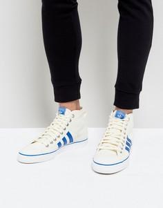 Белые высокие кроссовки adidas Originals Nizza BZ0543 - Белый