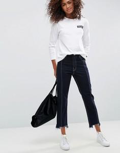 Синие прямые джинсы с контрастными строчками ASOS AUTHENTIC - Синий