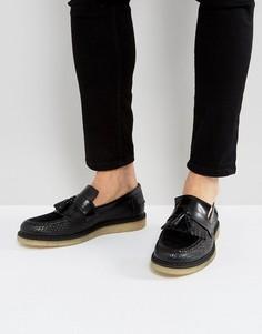 Черные кожаные туфли Fred Perry X George Cox - Черный