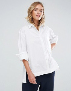 Оверсайз-рубашка Neon Rose - Белый