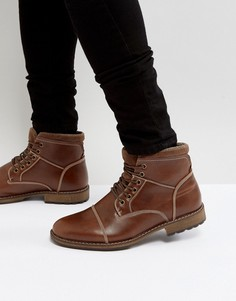 Коричневые ботинки милитари на шнуровке New Look - Рыжий