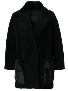 куртка с меховой отделкой Blancha