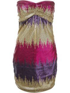 мини-платье в пайетки без бретелей Versace Vintage