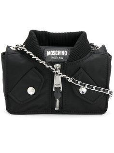 сумка на плечо с дизайном байкерской куртки Moschino