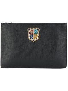 клатч с заплаткой с гербом Dolce & Gabbana