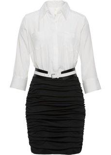 Платье в деловом стиле (белый/черный) Bonprix