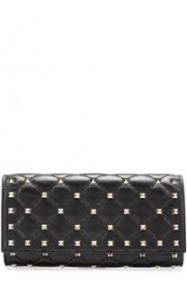Кожаный кошелек Rockstud Spike с металлическими заклепками Valentino