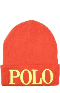 Шапка с вышитым логотипом Polo Ralph Lauren