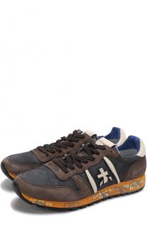 Замшевые кроссовки Eric на шнуровке Premiata