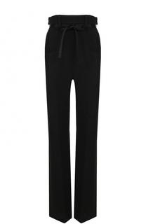 Шерстяные брюки прямого кроя с завышенной талией и поясом Ann Demeulemeester