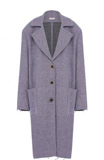 Шерстяное пальто свободного кроя с накладными карманами Natasha Zinko