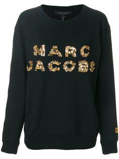 толстовка с логотипом из пайеток  Marc Jacobs