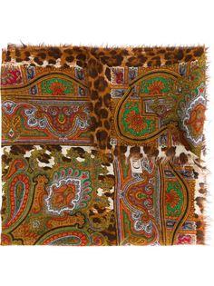 шарф с леопардовым принтом Christian Dior Vintage