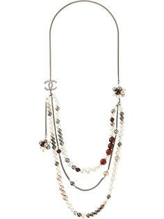 ожерелье-цепочка с бусинами  Chanel Vintage