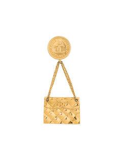 брошь в форме сумки Chanel Vintage