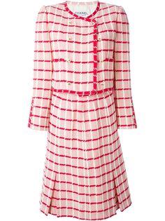 юбочный костюм в клетку Chanel Vintage