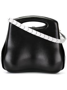 сумка на плечо с контрастной отделкой Chanel Vintage