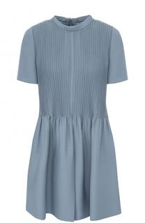 Приталенное мини-платье с плиссированным лифом Valentino
