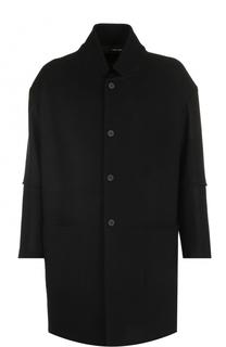 Шерстяное однобортное пальто свободного кроя Isabel Benenato