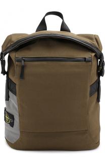 Текстильный рюкзак с откидным клапаном Stone Island