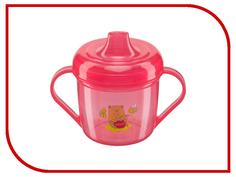 Тренировочная кружка с крышкой Happy Baby Training Cup Red 14001 4650069780618