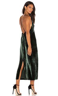 Атласное миди платье blessing - J Brand