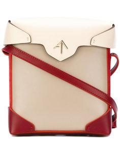 сумка-сэтчел с контрастным дизайном Manu Atelier