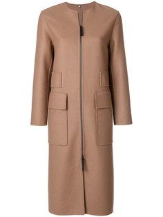 пальто на молнии с большими карманами  Numerootto