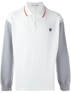 футболка-поло с контрастными рукавами Comme Des Garçons Vintage