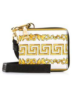 кошелек с золотистым принтом Versace