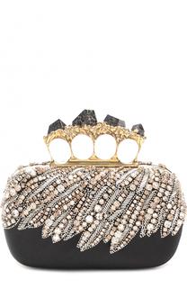 Клатч с вышивкой кристаллами Swarovski Alexander McQueen